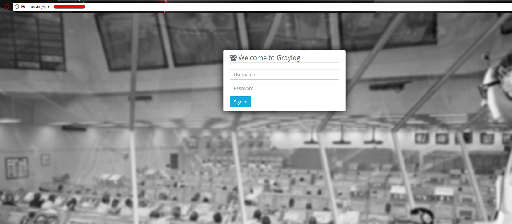 graylog2 login page